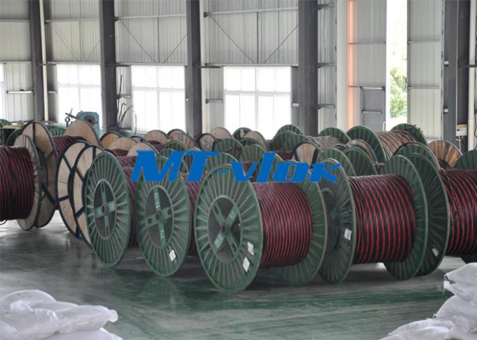 316L / 1.4404 Welded Coiled Seamless Stainless Steel Pipe For Multi - Core Tube