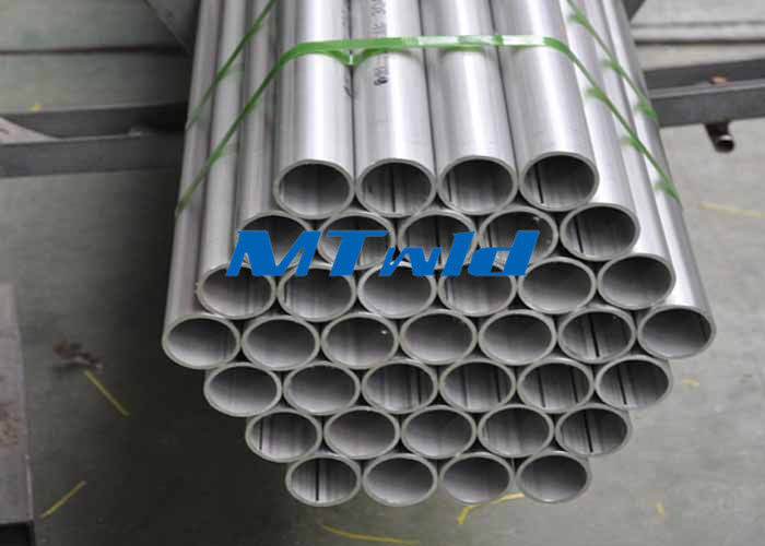 چین EFW Annealed / Pickled Welded Stainless Steel Tubing With Fixed 6m Length کارخانه