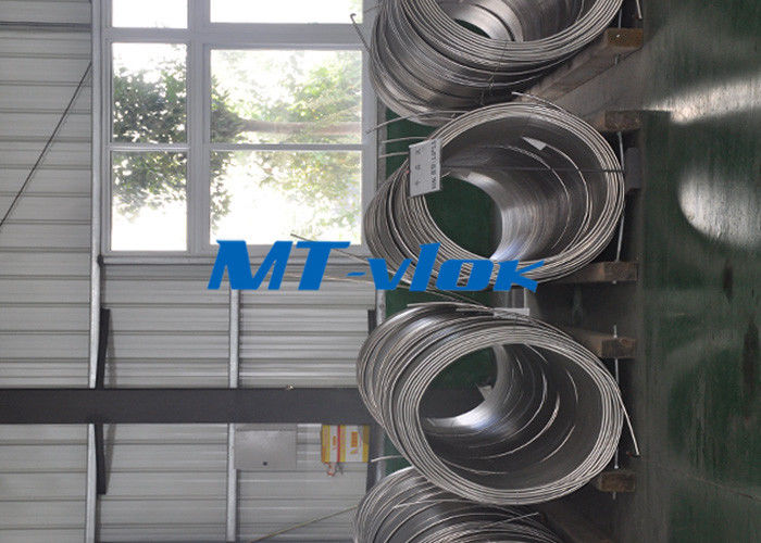 ASTM A213 / A269 S30400 / S31600 Stainless Steel Coiled Tubing / Stainless Steel Coil Pipe تامین کننده
